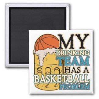 Drinking Team Basketball Magnet