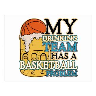 Drinking Team Basketball Postcards