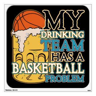 Drinking Team Basketball Wall Decal