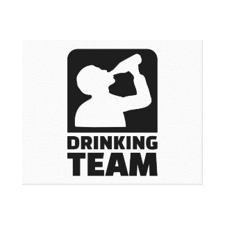 Drinking team stretched canvas prints