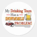 Drinking-Team-Final- Classic Round Sticker