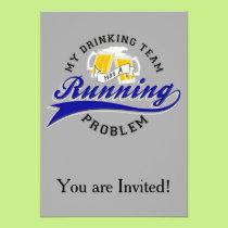 Drinking Team Has Running Problem Card