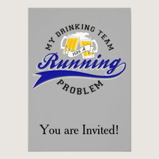 Drinking Team Has Running Problem Card