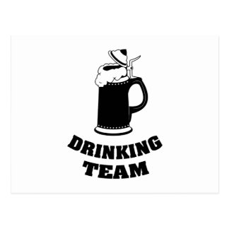Drinking Team Postcard