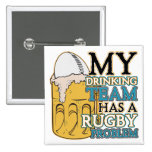 Drinking Team Rugby Buttons