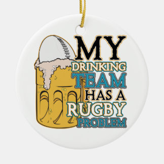 Drinking Team Rugby Ceramic Ornament