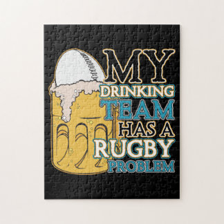 Drinking Team Rugby Jigsaw Puzzle