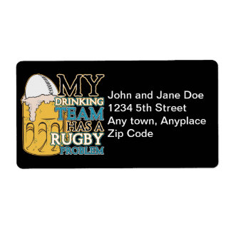 Drinking Team Rugby Label