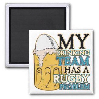 Drinking Team Rugby Magnet