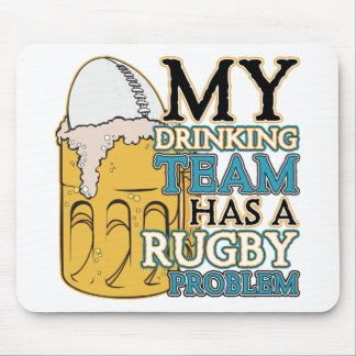Drinking Team Rugby Mouse Pad