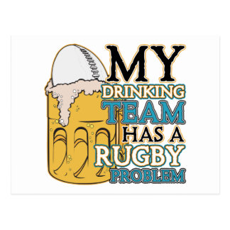 Drinking Team Rugby Postcard