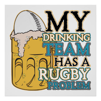 Drinking Team Rugby Poster