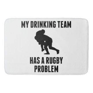 Drinking Team Rugby Problem Bath Mats