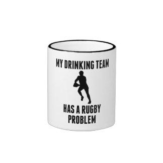 Drinking Team Rugby Problem Ringer Coffee Mug