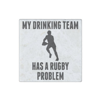 Drinking Team Rugby Problem Stone Magnet