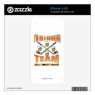 DRINKING TEAM SKIN FOR THE iPhone 4