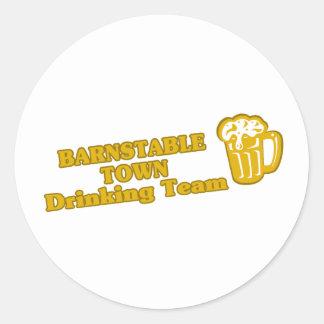 Drinking Team tee shirts Round Sticker