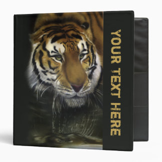 Drinking Tiger 3 Ring Binder