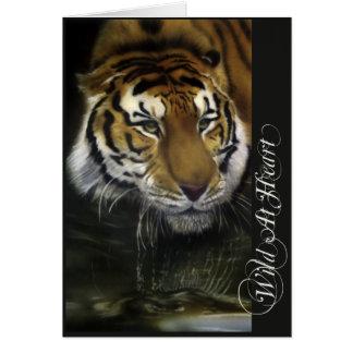 Drinking Tiger Card