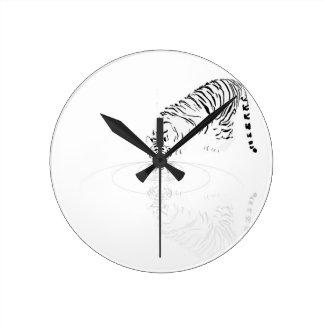 Drinking Tiger Round Clocks