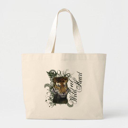 Drinking Tiger Large Tote Bag