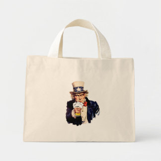 Drinking Uncle Sam Tote Bags