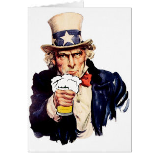 Drinking Uncle Sam Card