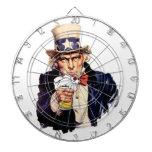 Drinking Uncle Sam Dart Board