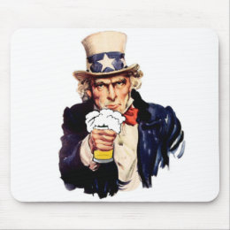 Drinking Uncle Sam Mouse Pad