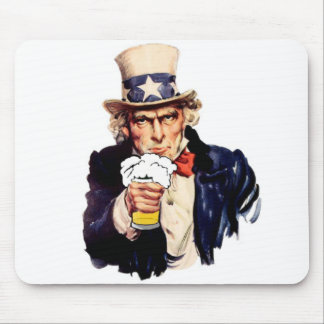 Drinking Uncle Sam Mouse Pads