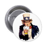 Drinking Uncle Sam Pins