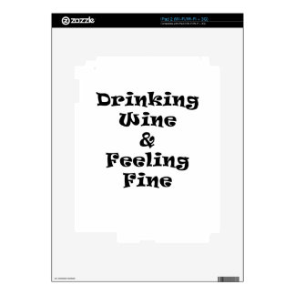 Drinking Wine and Feeling Fine Skins For The iPad 2