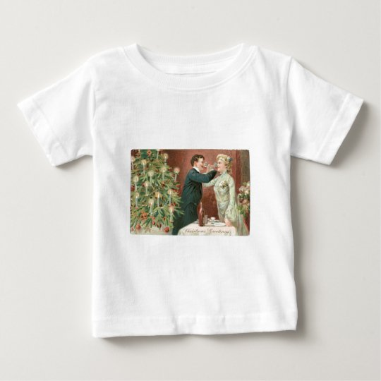 Drinking Wine near the Christmas Tree Baby T-Shirt