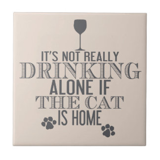 Drinking With The Cat | Funny Coaster