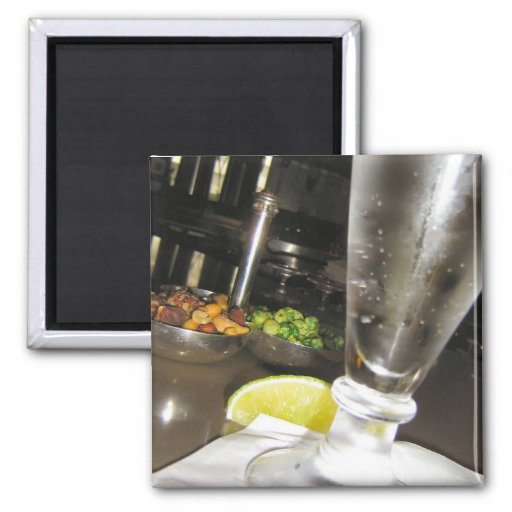 Drinks And Nuts Fridge Magnet