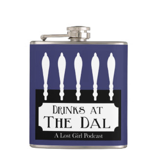 Drinks at The Dal Blue Hip Flask