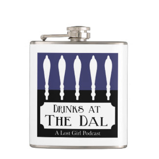 Drinks at The Dal Logo Hip Flask