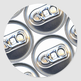 Drinks Can Tops Classic Round Sticker
