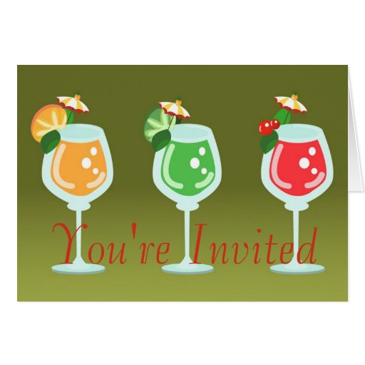 Drinks Here Invitation Cards