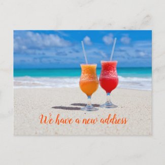 Drinks Moving Announcement Postcard