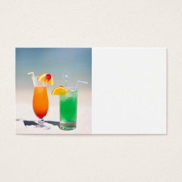 Beach Themed Drinks on the beach business card