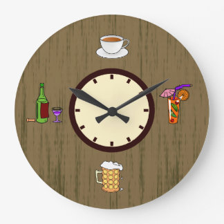 Drinks - Retro Wall Clock - Gifts for Drinkers