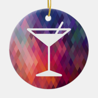 Drinks Sips Minimal Double-Sided Ceramic Round Christmas Ornament