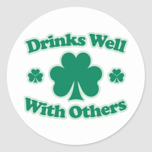 Drinks Well With Others Classic Round Sticker