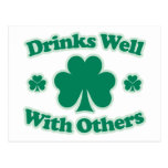 Drinks Well With Others Postcard
