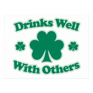 Drinks Well With Others Postcards