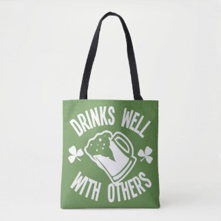 Drinks Well With Others Tote Bag