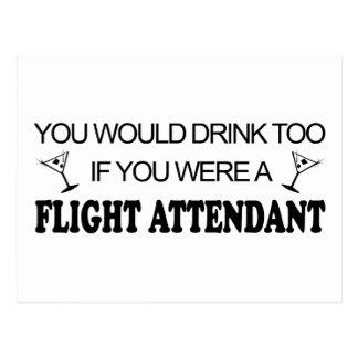 DrinkToo - Flight Attendant Post Card