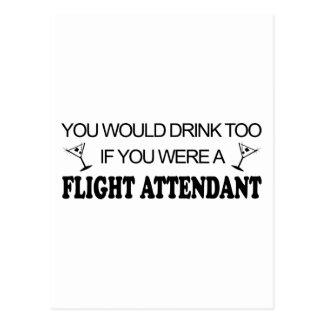 DrinkToo - Flight Attendant Postcard