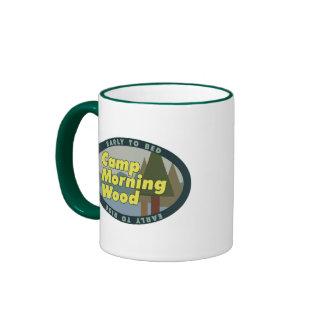 Drinkware de madera de la mañana del campo taza de dos colores